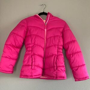 Faded Glory Pink Puffy Jacket L (10/12)